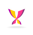 Butterfly bright colors elegant logo Two vector image vector image