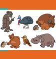 cartoon funny animal characters set vector image