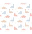 childish dinosaur seamless pattern for fashion vector image vector image