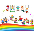 children and student activity vector image