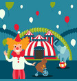 circus show poster carnival vector image