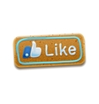 Cookie Thumbs Up vector image vector image