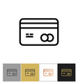 credit card icon shopping purchase bank credit vector image