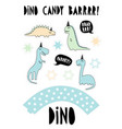 cute dinosaurs graphiccandy bar party set vector image