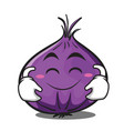 cute smile red onion character cartoon vector image vector image