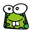 cute toad funny character vector image vector image
