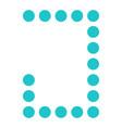 digital letter j display board round dot vector image vector image