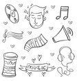 doodle of music object art vector image vector image