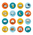 E-learning icon flat vector image