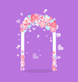 element for romantic ceremony wedding arch vector image vector image