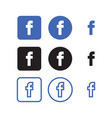 facebook social media icons vector image vector image