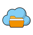 file folder and cloud storage related icon image vector image vector image