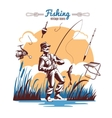 Fishing Vintage Icons Composition vector image vector image