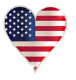 Flag heart american usa america united red concept vector image vector image