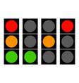 flat traffic light icons traffic lamps semaphore vector image
