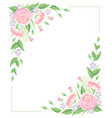 floral frame water color template decoration vector image