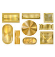 gold metal banner golden plate metallic textured vector image