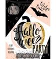Halloween glitter luxury vector image vector image