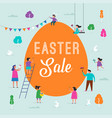 happy easter sale promotion design and banner vector image vector image