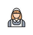 housewife cleaner cleaning staff flat vector image vector image