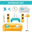 Interior Design Set vector image vector image