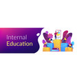 internal education concept banner header vector image vector image