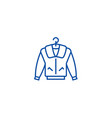 jacket line icon concept jacket flat vector image