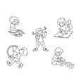 kids drawing learning reading vector image vector image