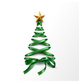 lace-up christmas tree made of laces vector image vector image