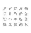 line plumber icons vector image