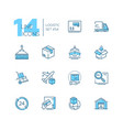 logistics - modern thin line design icons set vector image