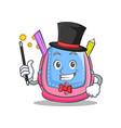 magician school bag character cartoon vector image