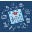 Math education background vector image