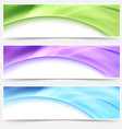 Modern web bright glowing header footer set vector image vector image