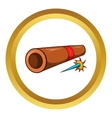 Ninja bamboo tube with arrow icon vector image