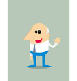 Old Cartoon businessman vector image