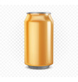orange aluminum can vector image vector image