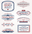Ornate emblems of quality vector image vector image