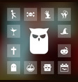 owl icon halloween set simple sign vector image