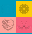 pattern floorball equipment abstract vector image vector image