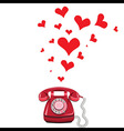 Phone receiver and heart vector image vector image