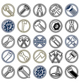Repair instruments collection 3d tools vector image