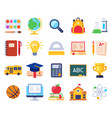 school icons education process students vector image vector image