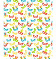 Seamless carnival masks pattern isolated on white vector image vector image