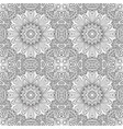 seamless ornament black and white background vector image vector image