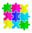 seamless texture of colored flat puzzle icon vector image