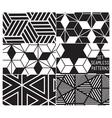 Set patterns4 vector image