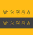 simple halloween icons set vector image