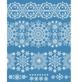 snowflakes seamless borderwinter pattern lace vector image