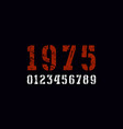 stencil-plate serif numbers in military style vector image